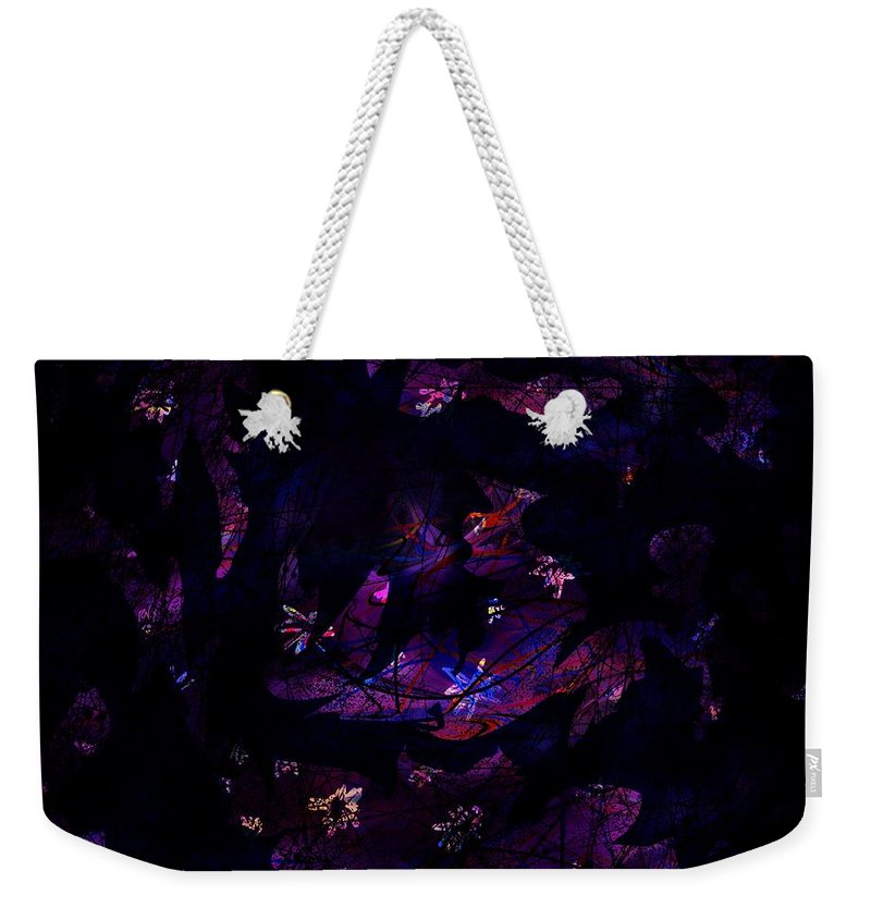 Abstract Weekender Tote Bag featuring the digital art Magic After Midnight by Rachel Christine Nowicki