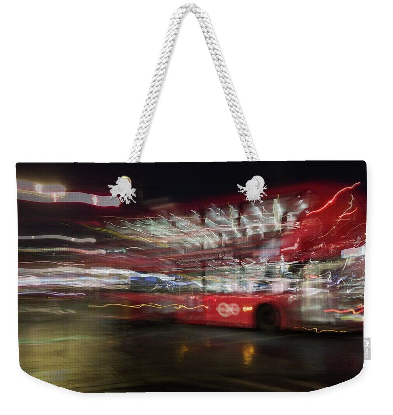 Bus Weekender Tote Bag featuring the photograph Magic Bus by Alex Lapidus