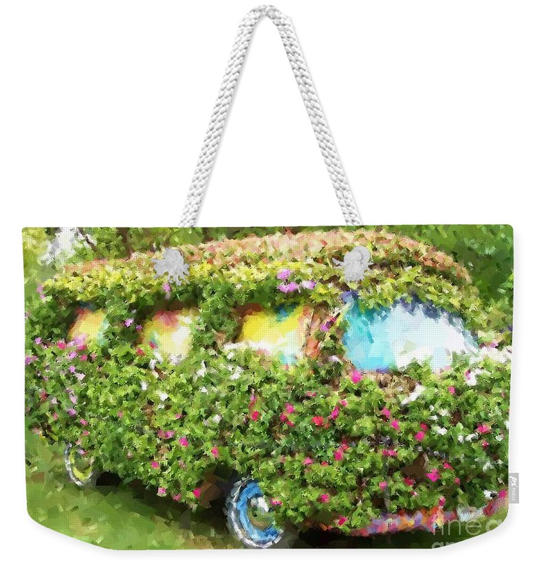 Volkswagen Weekender Tote Bag featuring the photograph Magic Bus by Debbi Granruth