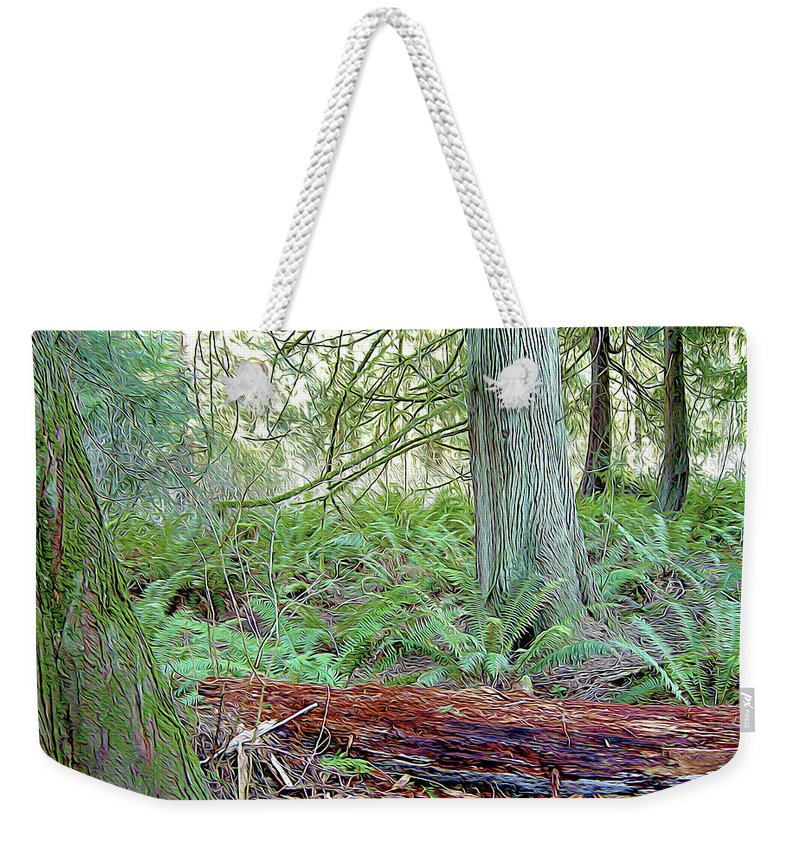 Nature Weekender Tote Bag featuring the photograph Magic Forest by Linda Carruth