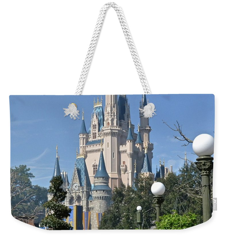 Wdw Weekender Tote Bag featuring the photograph Magic Kingdom Castle by Carol Bradley