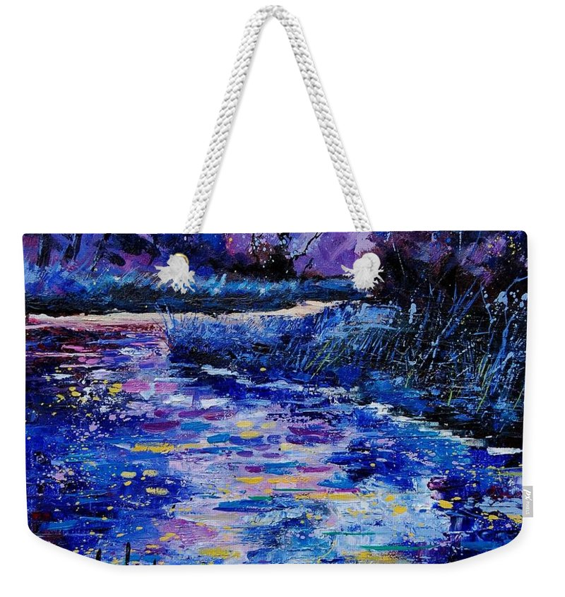 River Weekender Tote Bag featuring the painting Magic Pond by Pol Ledent