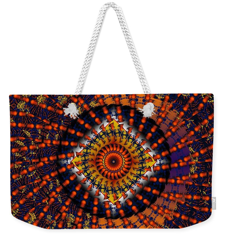 Psychadelic Weekender Tote Bag featuring the digital art Magic Tricks by Robert Orinski