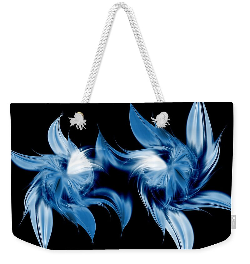 Abstract Weekender Tote Bag featuring the digital art Magical Orchids by Georgiana Romanovna