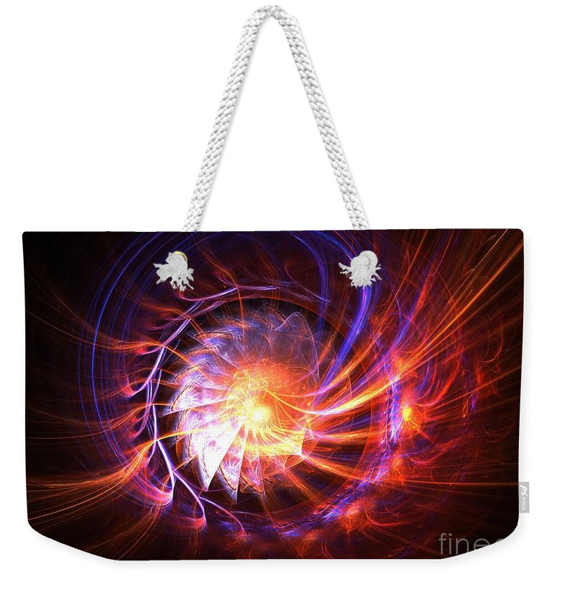 Apophysis Weekender Tote Bag featuring the digital art Magma Shell by Kim Sy Ok