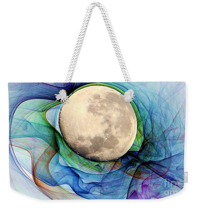 Magnetic Weekender Tote Bag featuring the digital art Magnetic Field by Ron Bissett