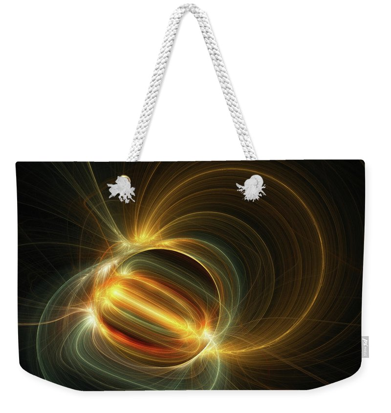 Magnetic Field Weekender Tote Bag featuring the digital art Magnetic Field by Scott Norris