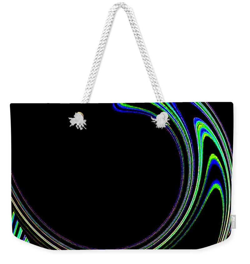 Cosmic Weekender Tote Bag featuring the digital art Magnetic Forces by Will Borden