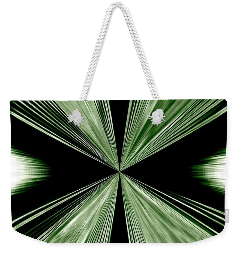 Abstract Weekender Tote Bag featuring the digital art Magnetism by Will Borden