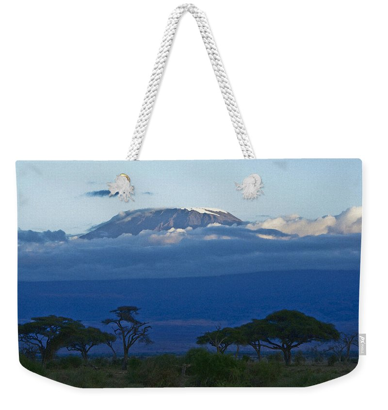 Africa Weekender Tote Bag featuring the photograph Magnificent Kilimanjaro by Michele Burgess