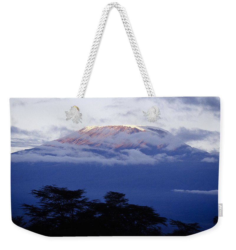 Africa Weekender Tote Bag featuring the photograph Magnificent Mount Kilimanjaro by Michele Burgess