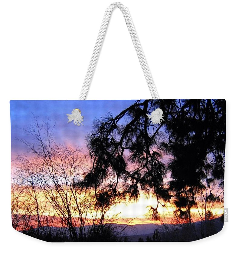 Magnificent Weekender Tote Bag featuring the photograph Magnificent Winter Sky by Will Borden