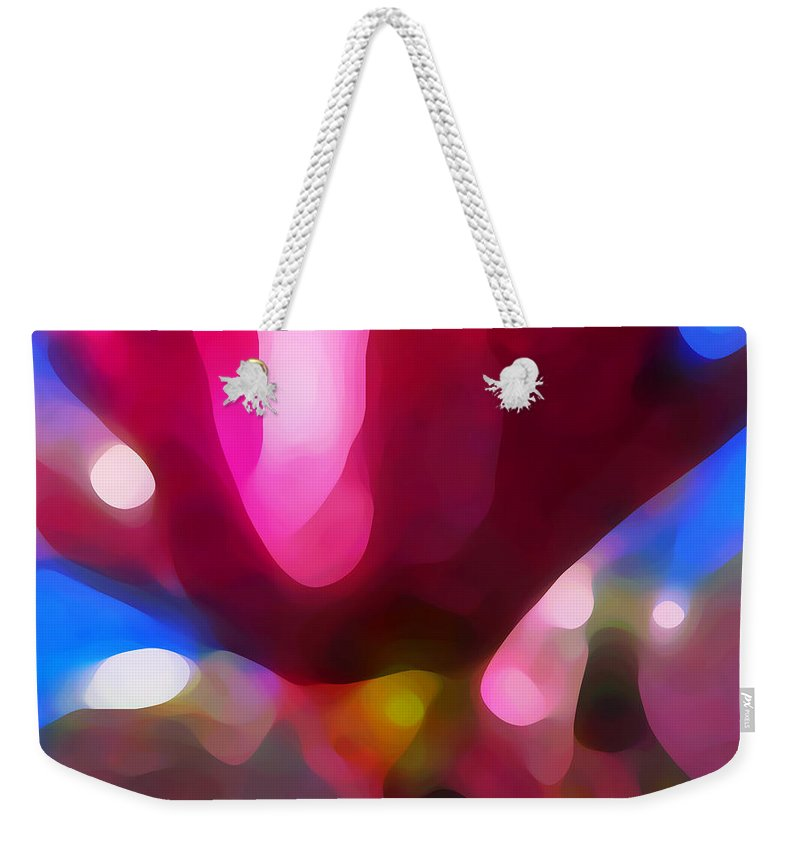Abstract Painting Weekender Tote Bag featuring the painting Magnolia by Amy Vangsgard