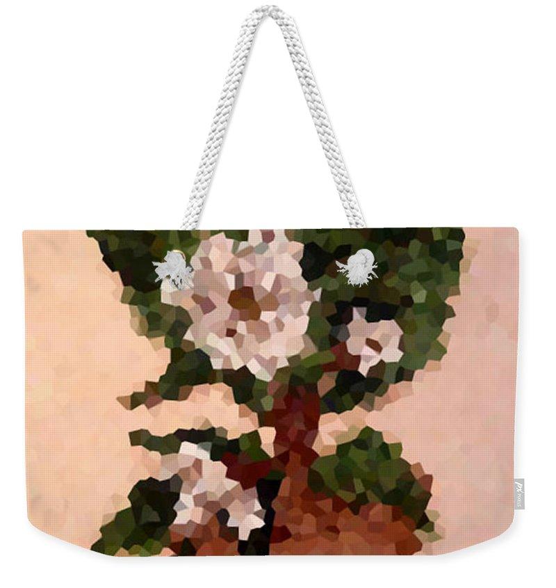 Digital Photo Weekender Tote Bag featuring the digital art Magnolia Topiary IIi by Barbara Griffin