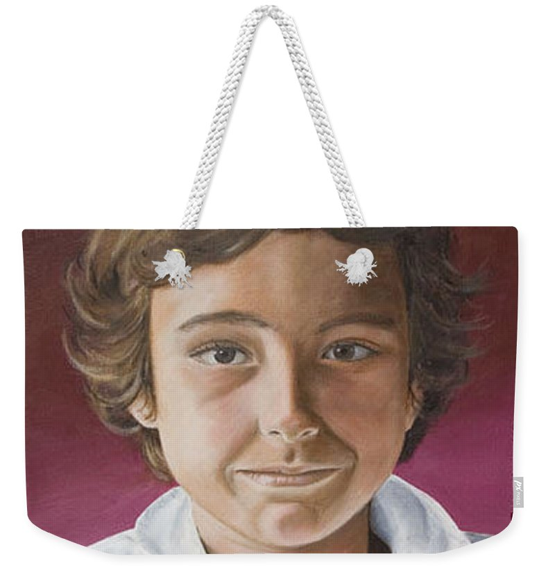 Portrait Weekender Tote Bag featuring the painting Magnus by Rob De Vries