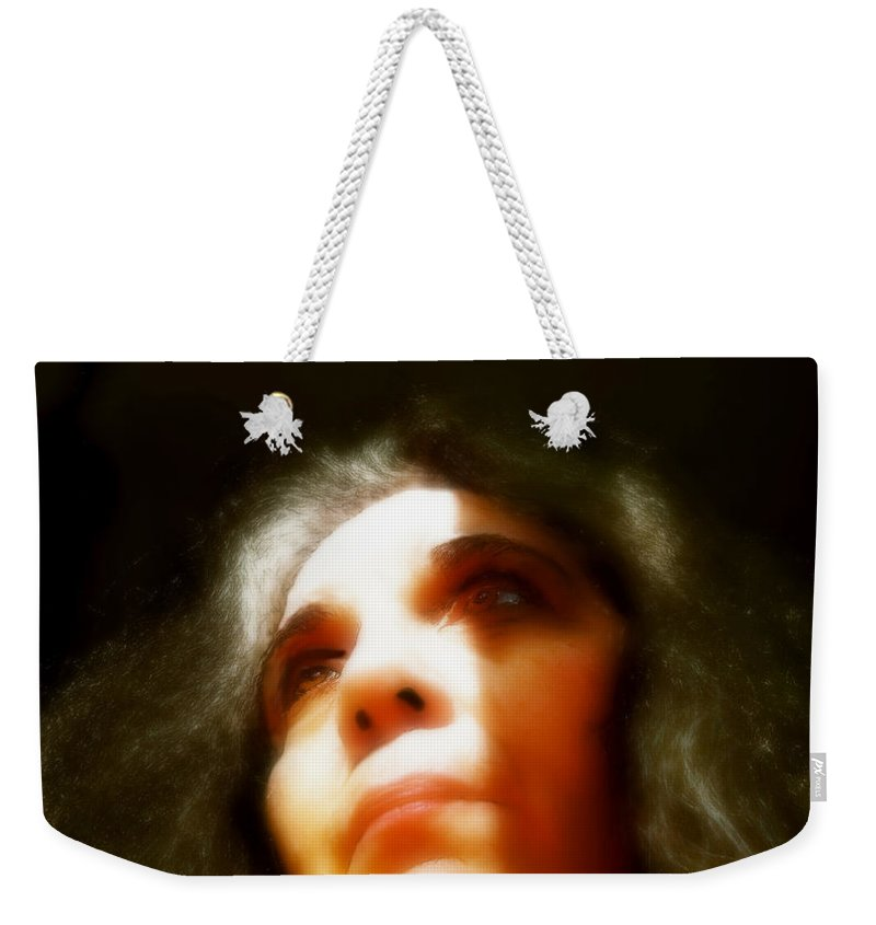Portrait Weekender Tote Bag featuring the painting Maid Of Constant Sorrow  Self-portrait by RC DeWinter
