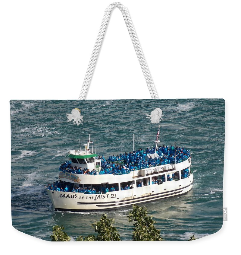 Maid Weekender Tote Bag featuring the photograph Maid Of The Mist 1 by Nina Kindred
