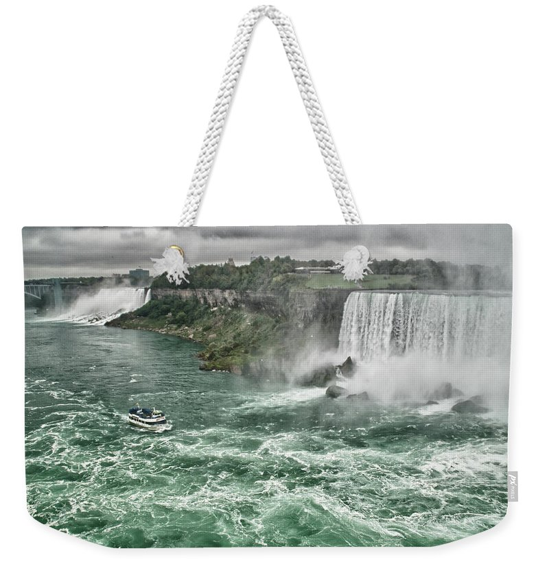 Maid Of The Mist Weekender Tote Bag featuring the photograph Maid Of The Mist 8971 by Guy Whiteley