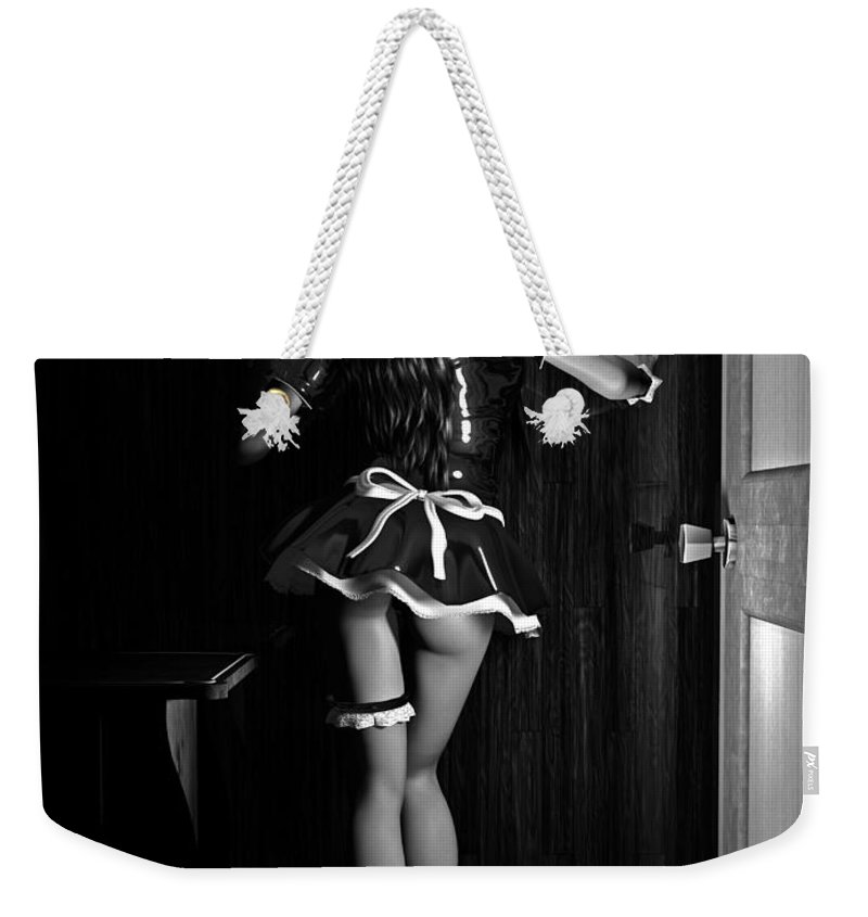 3d Weekender Tote Bag featuring the digital art Maid Service by Alexander Butler