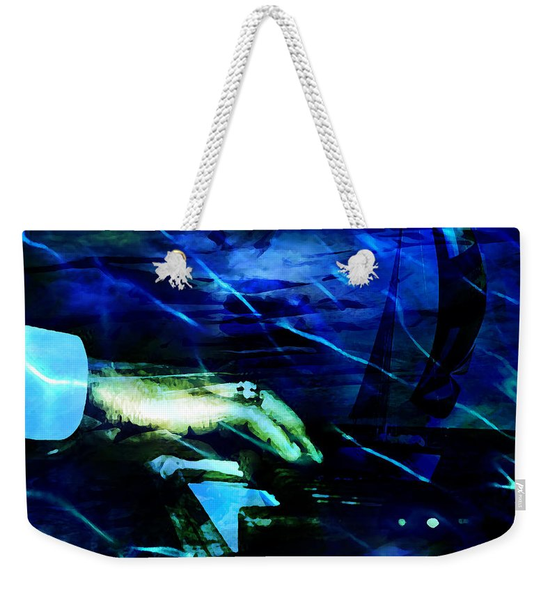 Voyage Weekender Tote Bag featuring the digital art Maiden Voyage by Ken Walker