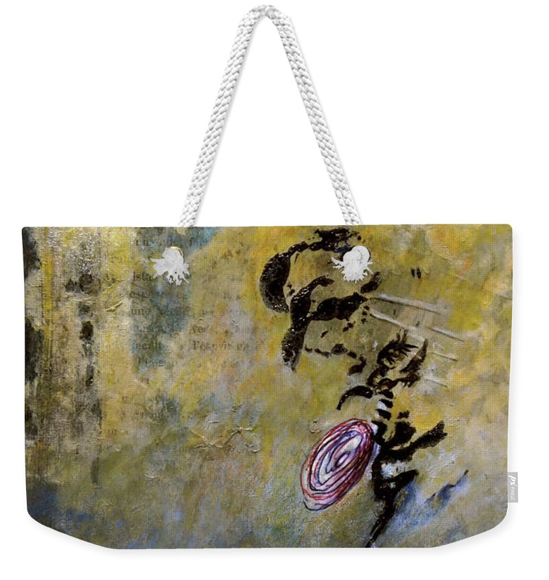 Painting Weekender Tote Bag featuring the painting Mail Kraft by Jean-luc Lacroix