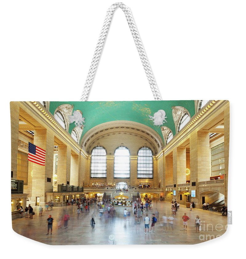 Central Weekender Tote Bag featuring the photograph Main Hall Grand Central Terminal, New York by Antonio Gravante