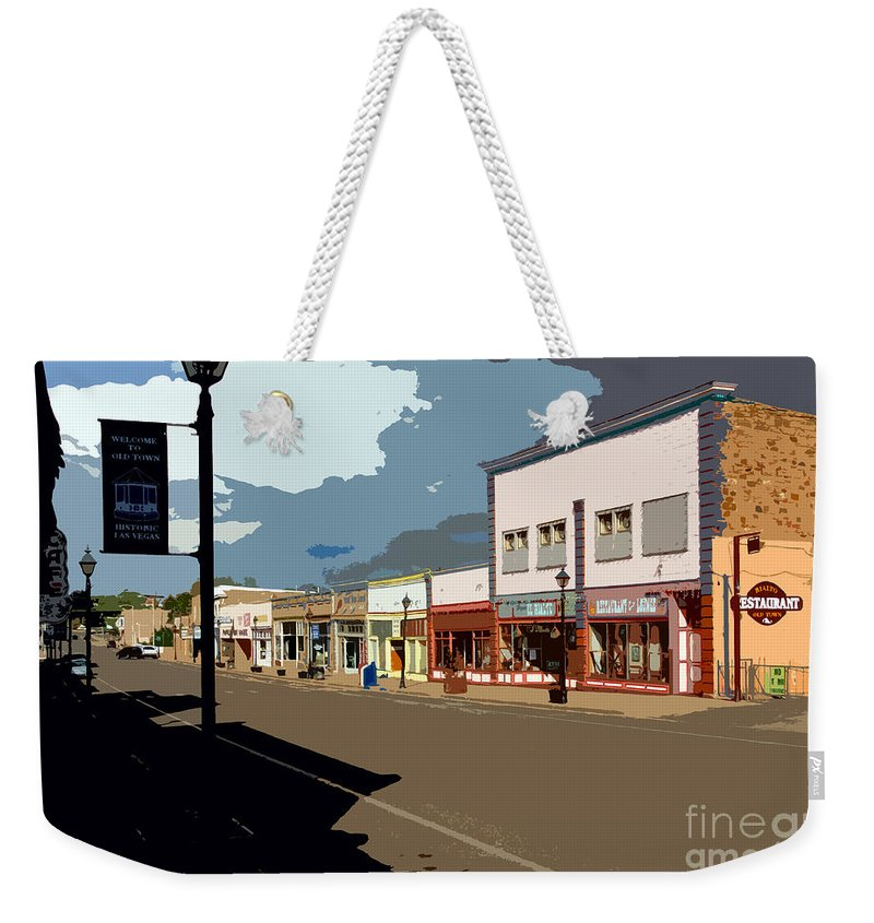Main Street Weekender Tote Bag featuring the painting Main Street by David Lee Thompson