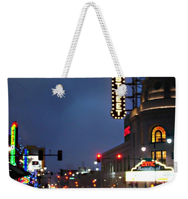 Landscape Weekender Tote Bag featuring the photograph Main Street Kansas City by Steve Karol