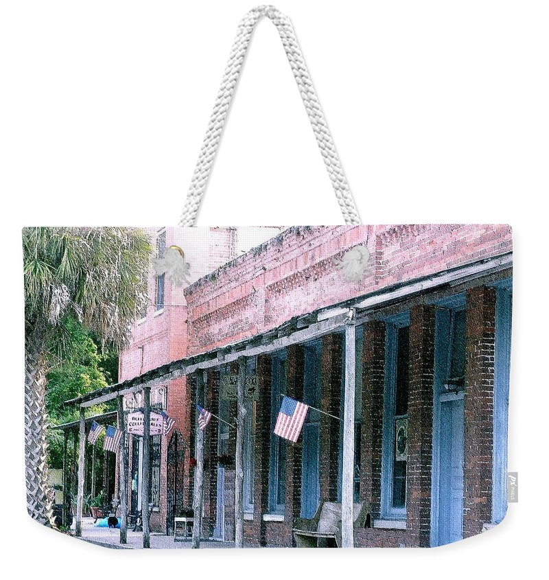 Florida Weekender Tote Bag featuring the photograph Main Street Micanopy Florida by Nelson Strong