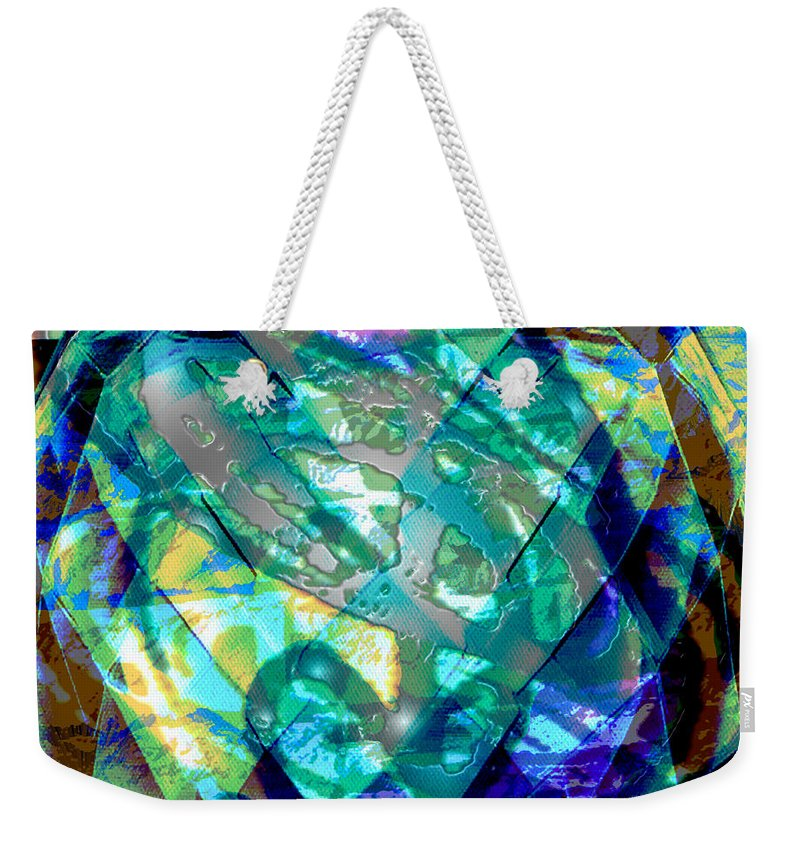 Abstract Weekender Tote Bag featuring the digital art Mainspring Of Time by Seth Weaver