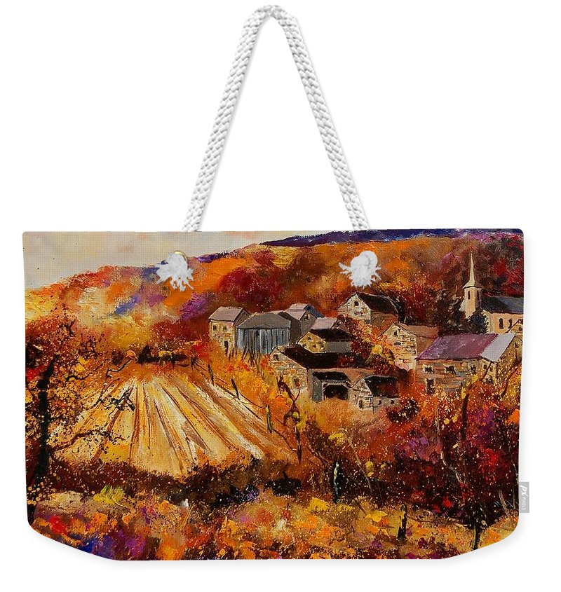 Poppies Weekender Tote Bag featuring the painting Maissin by Pol Ledent