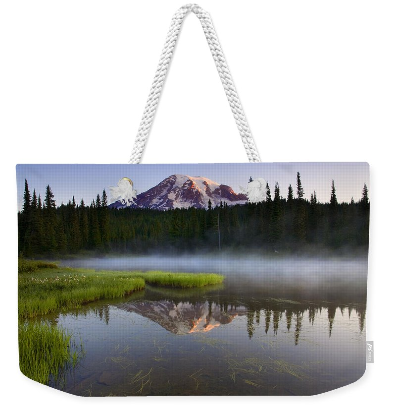 Lake Weekender Tote Bag featuring the photograph Majestic Dawn by Mike Dawson