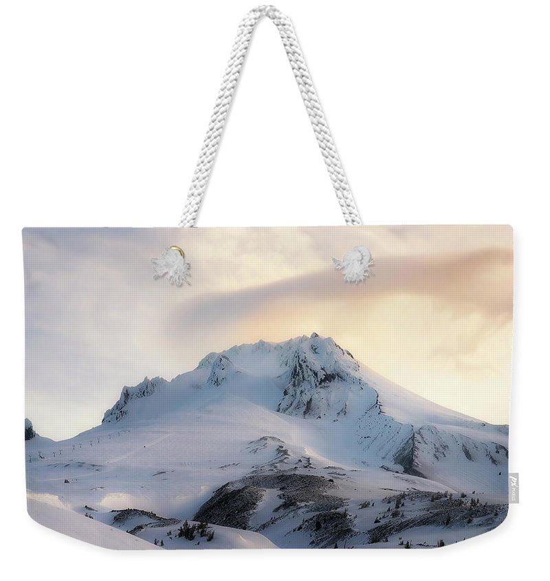 Mount Hood Weekender Tote Bag featuring the photograph Majestic Mt. Hood by Ryan Manuel