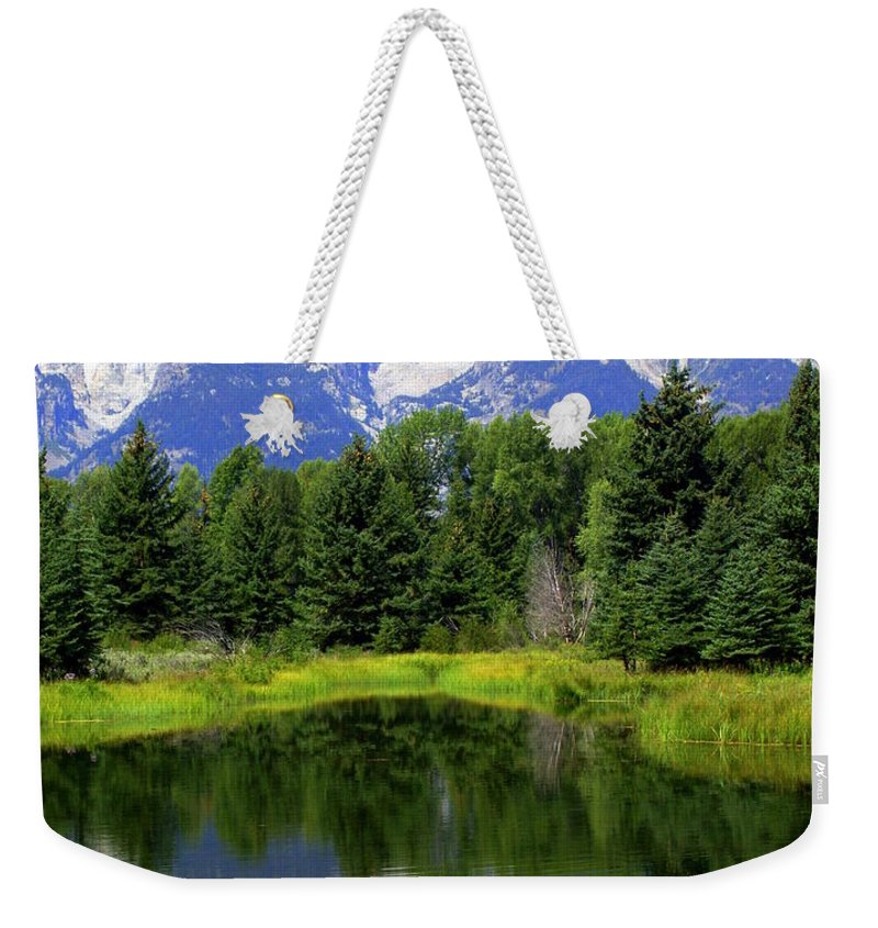 Grand Teton National Park Weekender Tote Bag featuring the photograph Majestic Tetons by Marty Koch