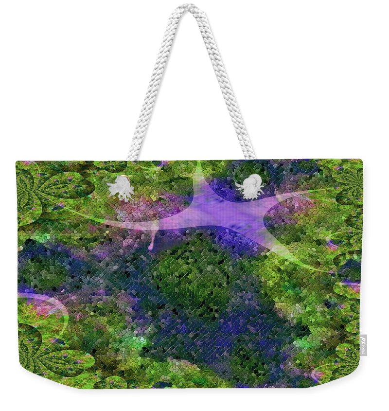 Mosaic Weekender Tote Bag featuring the digital art Make A Wish by Claire Bull