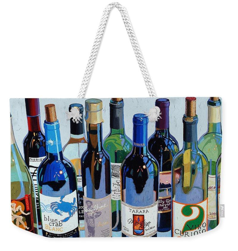 Wine Weekender Tote Bags