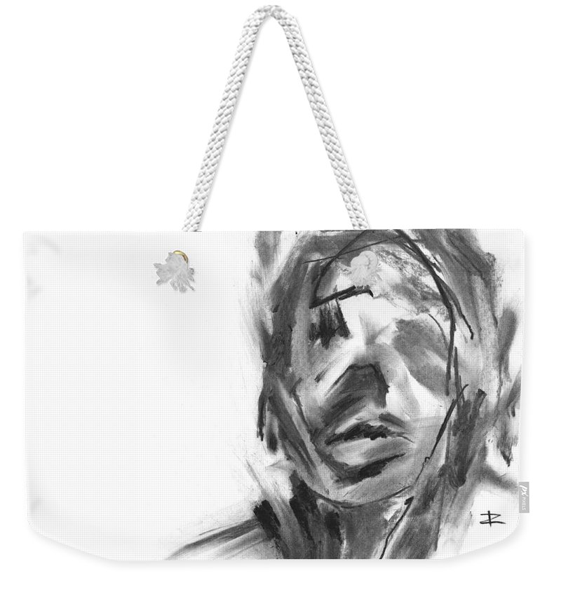 Making Marks And Coaxing Emotions Weekender Tote Bag featuring the drawing Making Marks And Coaxing Emotions 2 by Paul Davenport