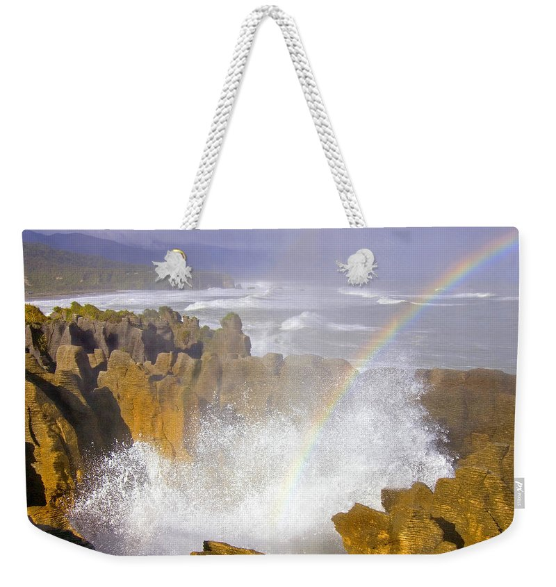 Paparoa Weekender Tote Bag featuring the photograph Making Miracles by Mike Dawson