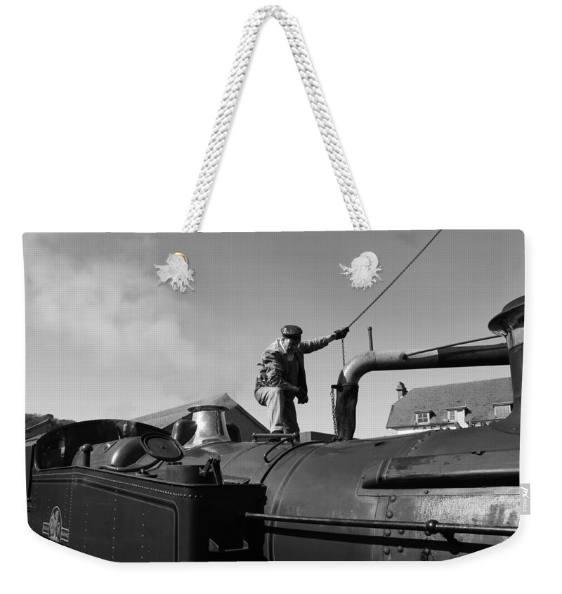 Steam Weekender Tote Bag featuring the photograph Making Steam 2 by Lauri Novak