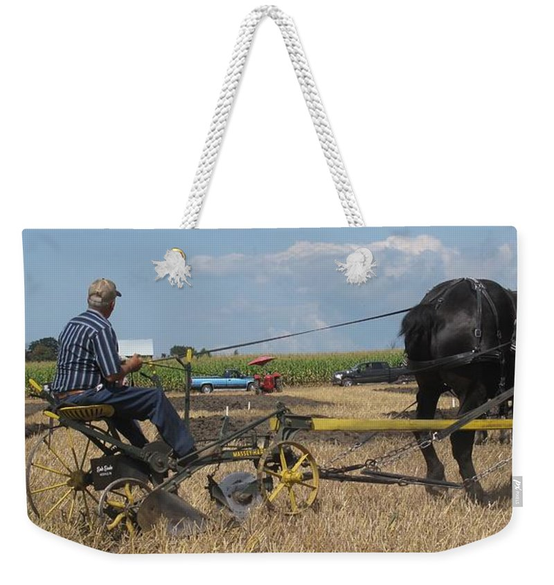 Horse Weekender Tote Bag featuring the photograph Making The Clubhouse Turn by Ian MacDonald