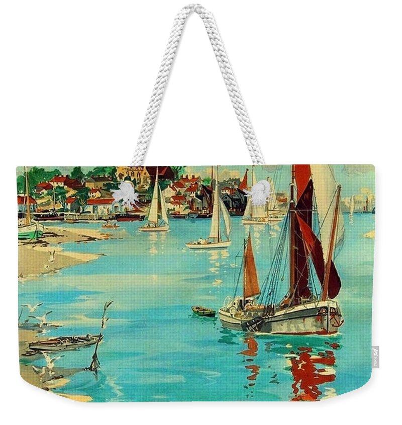 Maldon Weekender Tote Bag featuring the painting Maldon, England, Sailing Boats by Long Shot