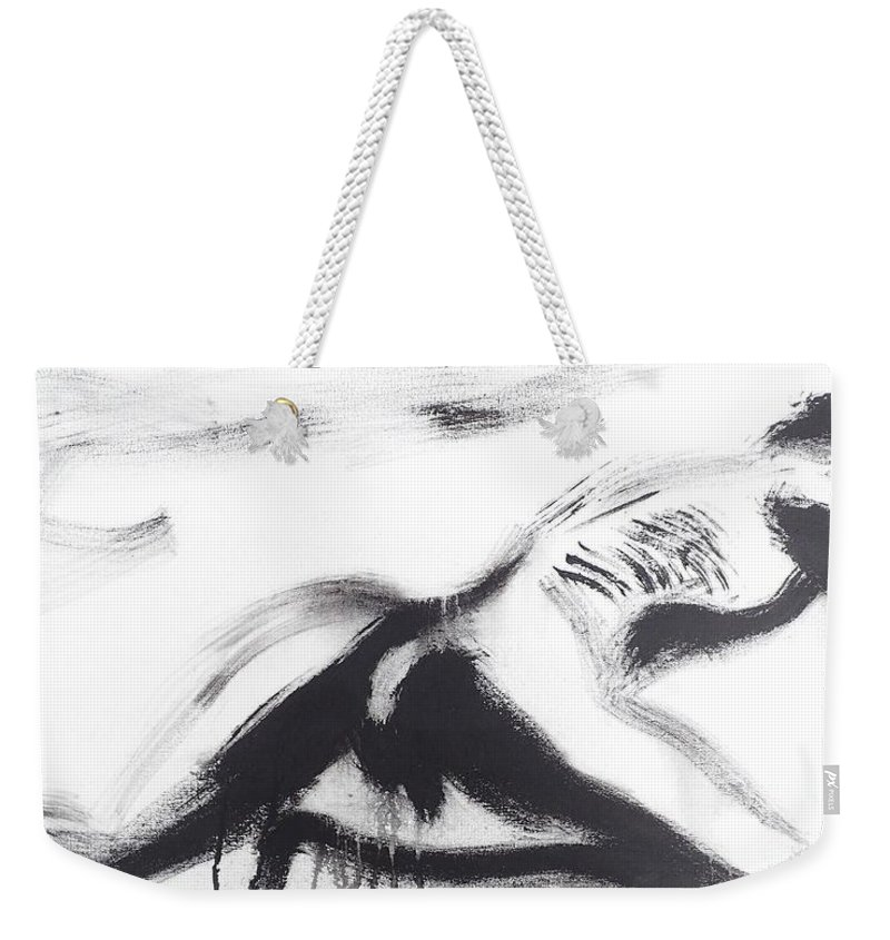 Male Weekender Tote Bag featuring the painting Male Back by Erwin Bruegger