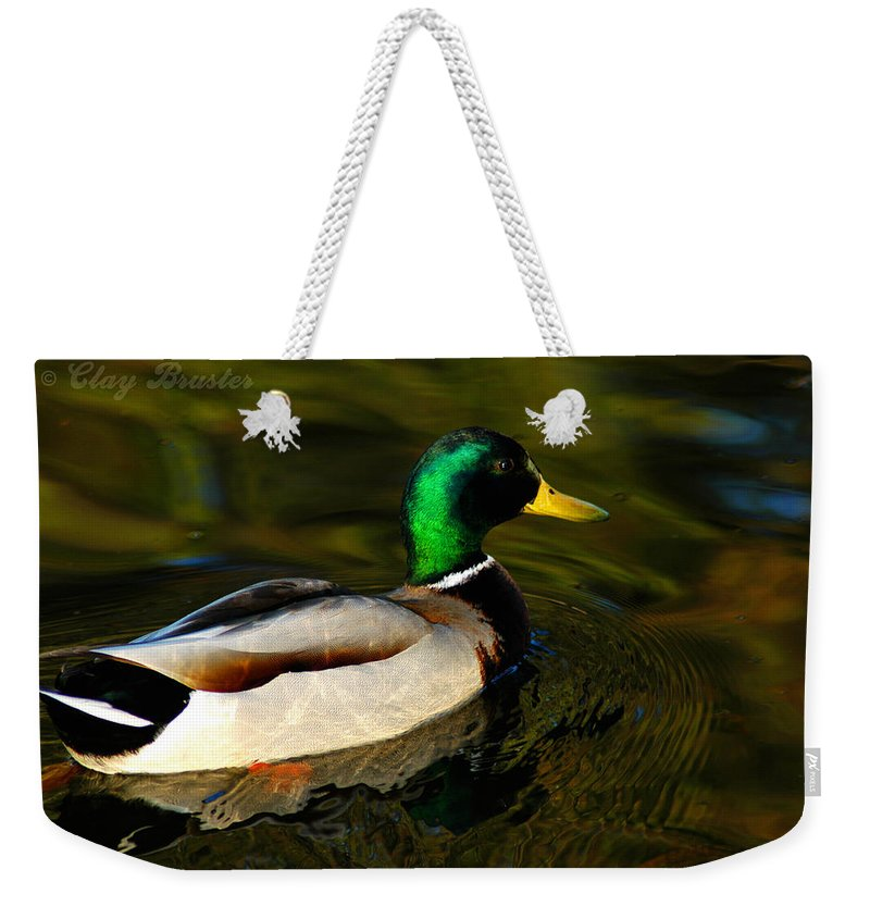 Clay Weekender Tote Bag featuring the photograph Mallard Green by Clayton Bruster