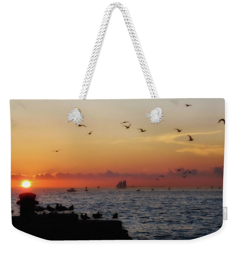 Sunset Weekender Tote Bag featuring the photograph Mallory Square Sunset by JAMART Photography
