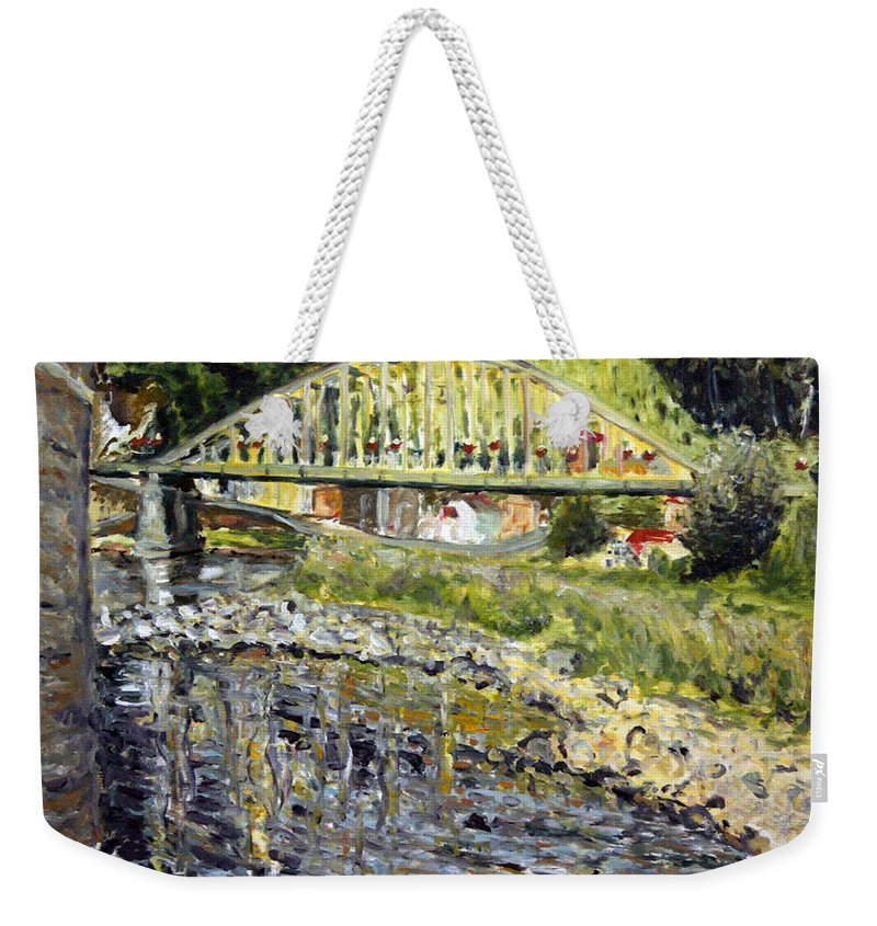 Landscape Weekender Tote Bag featuring the painting Malo Vody by Pablo de Choros