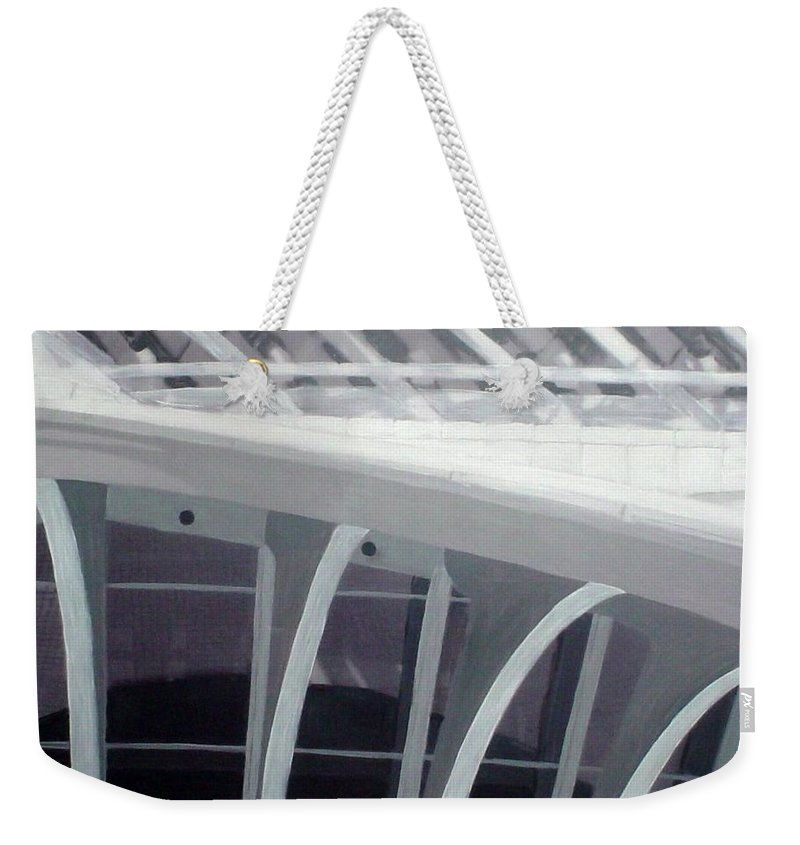 Mam Weekender Tote Bag featuring the mixed media Mam Close Up by Anita Burgermeister