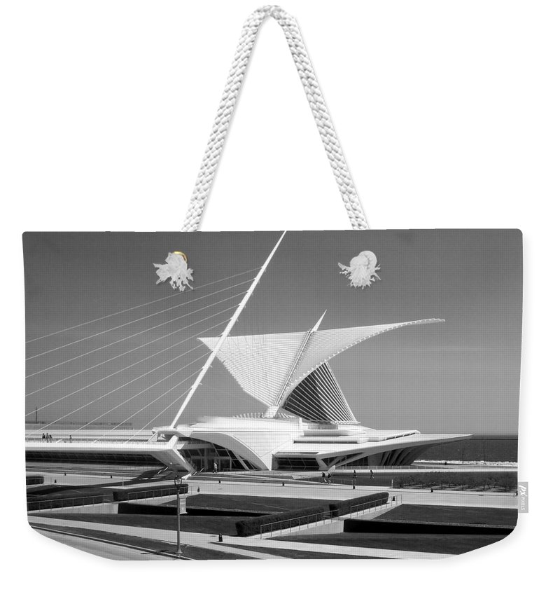 Mam Weekender Tote Bag featuring the photograph Mam In Bw by Anita Burgermeister