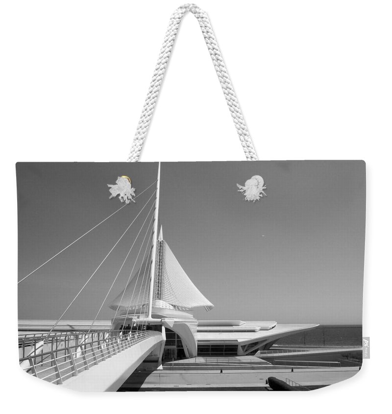 Mam Weekender Tote Bag featuring the photograph Mam Spreading Wings B-w by Anita Burgermeister