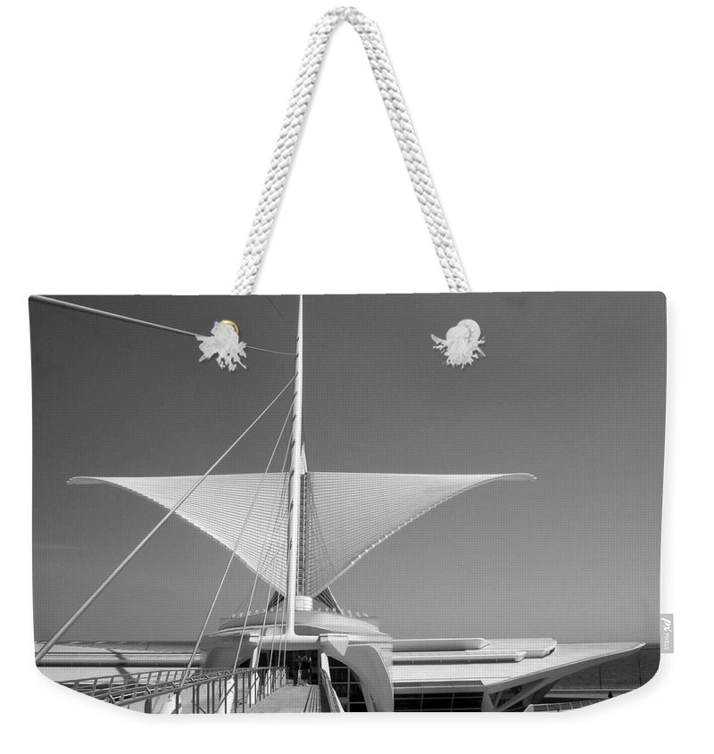 Mam Weekender Tote Bag featuring the photograph Mam Wings Spread B-w by Anita Burgermeister