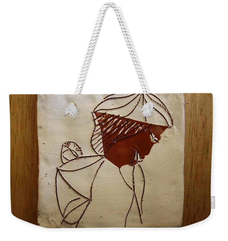 Jesus Weekender Tote Bag featuring the ceramic art Mama 2 - Tile by Gloria Ssali